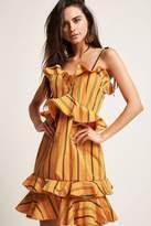 Forever 21 Stripe Sweetheart Ruffle Dress