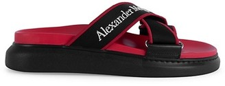 Alexander McQueen Logo Strap Slide Sandals