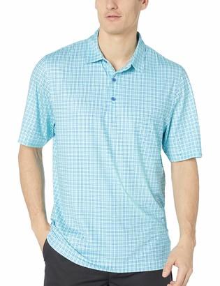 Cutter & Buck Men's Drytec UPF 50+ Lightweight Pike Small Plaid Print Polo Shirt