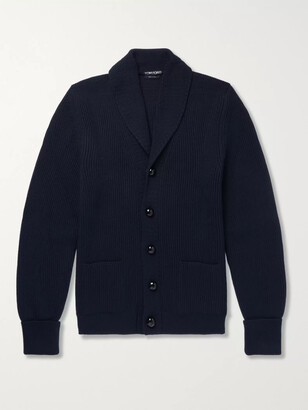 Tom Ford Steve Mcqueen Shawl-Collar Ribbed Wool Cardigan