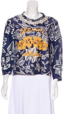 Isabel Marant Embroidered Silk Top