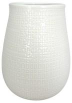 Threshold Textured Ceramic Vase White Short