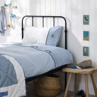Whale Bed Linen Set, Blue, Cot Bed