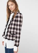 MANGO Check Tweed Jacket