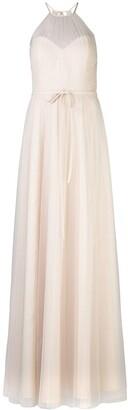 Marchesa halterneck tulle bridesmaid gown