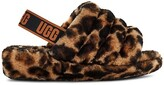 Thumbnail for your product : UGG Fluff Yeah Panther-Print Sheepskin Slingback Slippers
