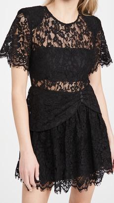 Self-Portrait Fine Cord Sleeve Mini Dress