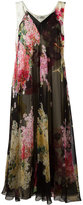Lanvin floral print dress - women - Silk/Acetate/Viscose - 36