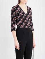 Claudie Pierlot Janelle floral crepe jumpsuit
