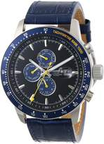 Ingersoll Men's Presidios Auto Limited Edition Blue Leather Black Dial