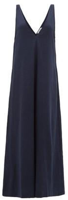 The Upside Zen V-neck Wide-leg Jumpsuit - Womens - Navy