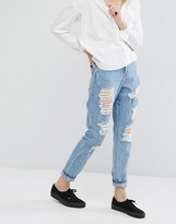 Dr. Denim Mom Jeans with Distressing