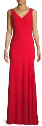 Alexander McQueen V-Neck Column Gown