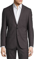 HUGO BOSS Slim-Fit Genesis Check Two-Piece Suit, Open Gray
