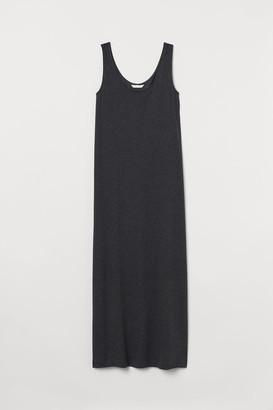 H&M Cotton-blend Jersey Dress - Gray
