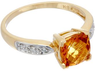 Effy Fine Jewelry 14K 2.15 Ct. Tw. Diamond & Citrine Ring