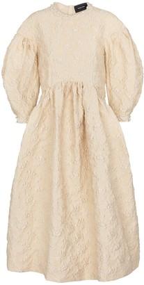 Simone Rocha Exclusive to Mytheresa Embellished cloque midi dress