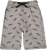 Emile et Ida Lizard-Print French Terry Shorts