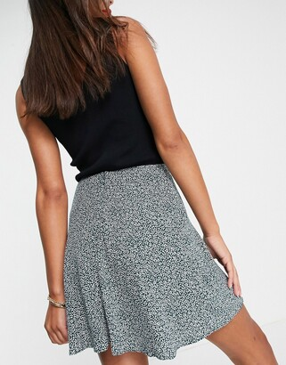 And other stories & mini skirt in green print