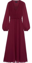 Giambattista Valli Ruched Silk-chiffon Maxi Dress