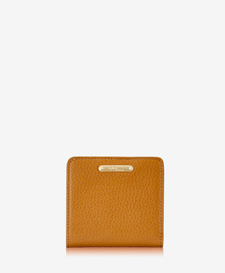 GiGi New York Mini Foldover Wallet, Camel Napa Luxe