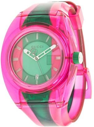 Gucci Pre Owned Web stripe watch