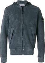 Stone Island washed zip hoodie