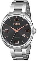 Fendi Men's F201016200 Fendimatic Analog Display Swiss Automatic Silver Watch