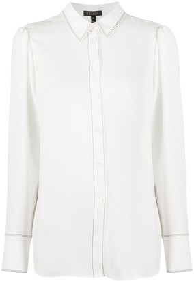 Escada Long Sleeve Stitch Detail Shirt