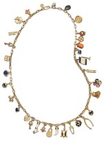 Tory Burch Long Charm Statement Necklace
