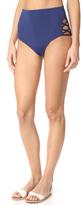 Mara Hoffman Lattice Side High Waist Bikini Bottoms