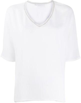 Fabiana Filippi contrast trim T-shirt