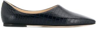Jimmy Choo Joselyn crocodile-effect loafers