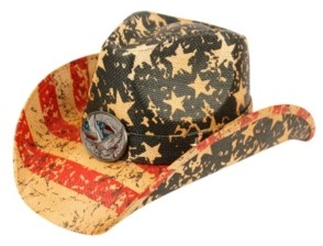 Epoch Hats Company Angela & William American Flag Cowboy Hat