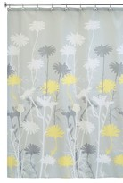 "InterDesign Polyester Daizy Shower Curtain -Gray/Yellow, 54"" x 78"""