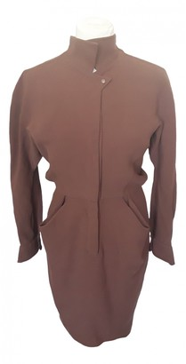 Thierry Mugler Brown Wool Dresses