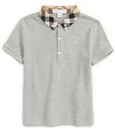 Burberry Toddler Boy's Check Collar Polo