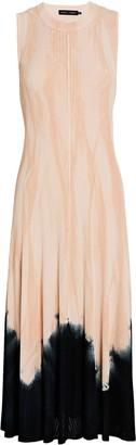Proenza Schouler Knotted Tie-Dye Knit Dress