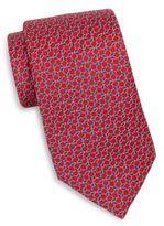 Saks Fifth Avenue Mosaic Neat Silk Tie