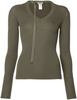 Nina Ricci neck strap jumper - women - Silk/Wool - S