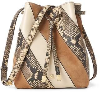 Lauren Ralph Lauren Debby II Mini Leather Bucket Bag
