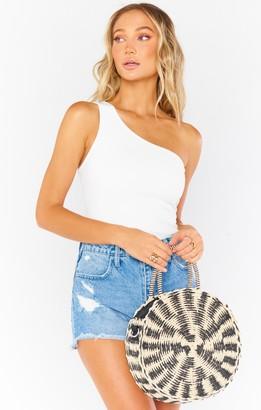 Show Me Your Mumu Sunburst Circle Straw Bag