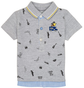 Ikks MAELYS boys's polo shirt in Grey