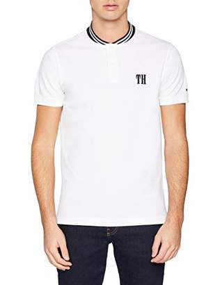 Tommy Hilfiger Men's Baseball Collar Slim Polo Shirt, (Bright White 100), Small