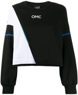 OMC colour-block panelled sweatshirt