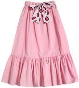 MSGM Cotton Poplin Long Skirt