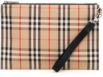 Burberry Vintage Check Clutch Bag
