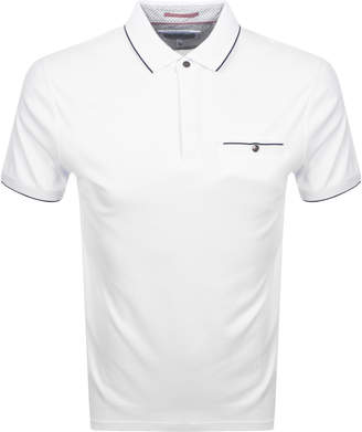 Ted Baker Fincham Polo T Shirt White