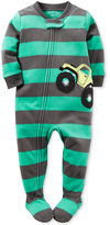 Carter's 1-Pc. Striped Monster Truck Footed Pajamas, Baby Boys (0-24 months)