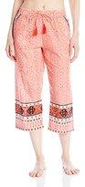 Lucky Brand Women's Woven Crop Sleep Pant